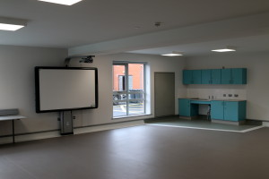 Classroom with whiteboard